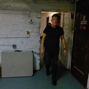 Springsteen, backstage in Walter Kerr Theatre, New York, 30 oktober 2018.