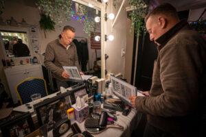 Springsteen in zijn kleedkamer in het St. James Theatre